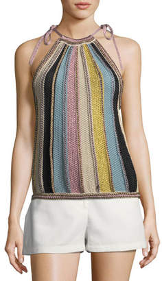 M Missoni Vertical Striped Crochet Top