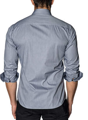 Jared Lang Semi-Fitted Long-Sleeve Sport Shirt