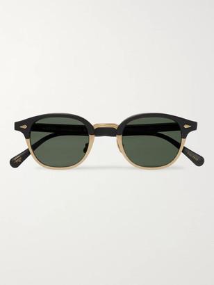 MOSCOT Lemtosh-Mac Round-Frame Matte-Acetate And Gold-Tone Sunglasses