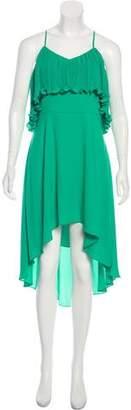 Halston Pleat-Accented Midi Dress w/ Tags