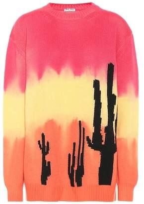 Miu Miu Intarsia tie-dyed cashmere sweater