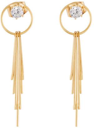 Panacea Crystal Circle & Linear Drop Earrings