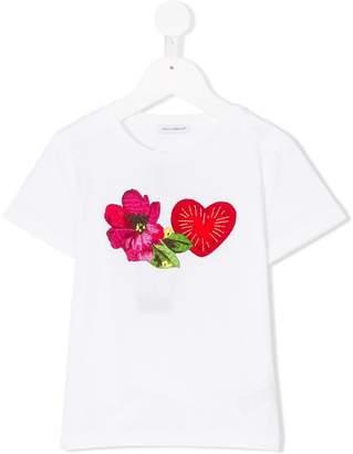 Dolce & Gabbana heart flower patches T-shirt
