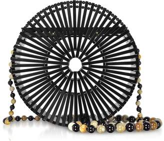 Cult Gaia Black Acrylic Luna Crossbody Bag
