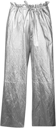 MM6 MAISON MARGIELA high-waisted metallic culottes