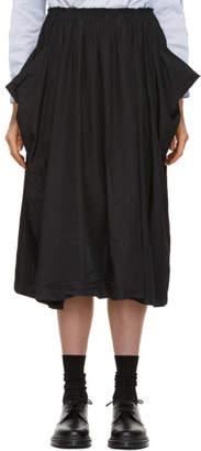 Comme des Garcons Black Wide Crinkled Skirt