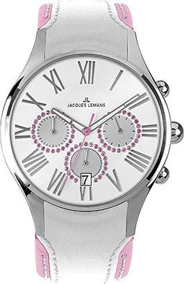 Jacques Lemans Women's 'Capri' Quartz Stainless Steel and Leather Casual Watch