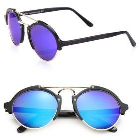 Illesteva Milan II 54MM Round Sunglasses $300 thestylecure.com