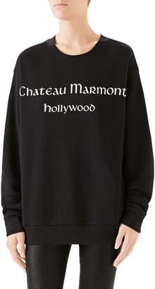 Gucci Chateau Marmont Cotton Jersey Sweatshirt