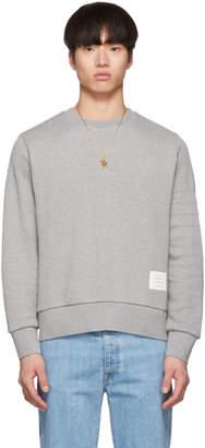 Thom Browne Grey Chunky Honeycomb Pique 4-Bar Sweatshirt