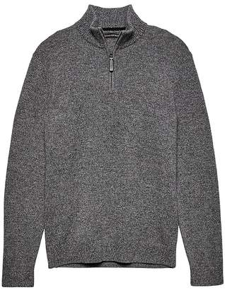 Banana Republic Italian Merino Wool Blend Half-Zip Sweater