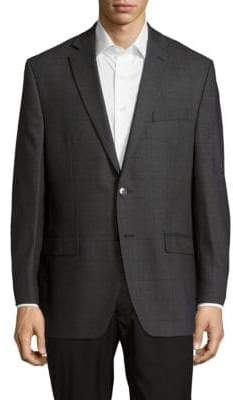 Calvin Klein Textured Notched-Lapel Woolen Jacket