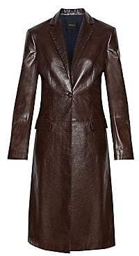 Theory Women's Leather Longline Jacket