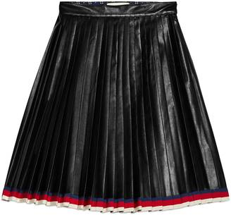 Pleated leather skirt $3,400 thestylecure.com