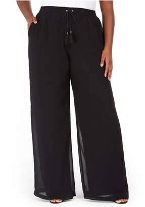 NY Collection Plus Size Pull-On Palozzo Pants
