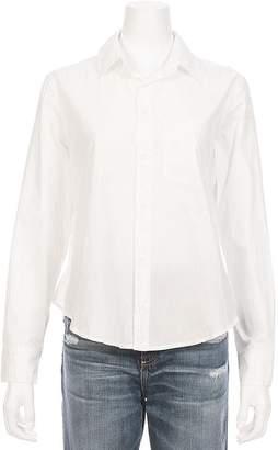 Amo Ruffle Back Prep Shirt