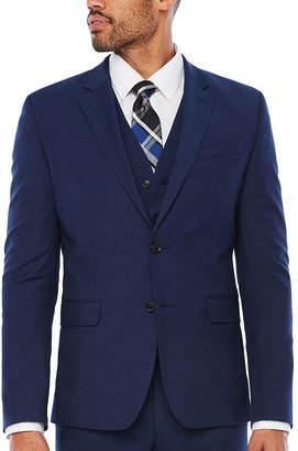 Jf J.Ferrar JF Dark Blue Texture Jacket-Slim