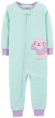 Carter's Girls Fleece One Piece Pajama Long Sleeve Round Neck