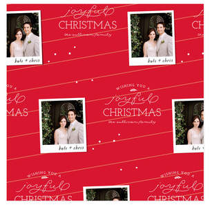 Festive Photo Personalized Wrapping Paper
