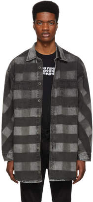 Diesel Black Denim D-Loren Shirt Jacket