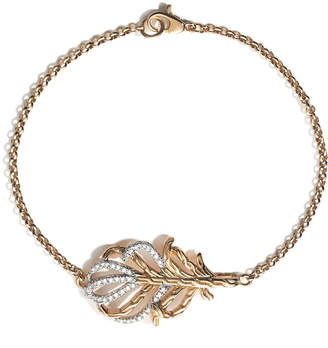 John Hardy Classic Chain 18k Feather Bracelet, Size M