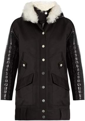 Courreges Layered cotton-drill parka