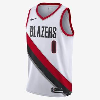 Nike Damian Lillard Association Edition Swingman (Portland Trail Blazers) Men's NBA Connected Jersey