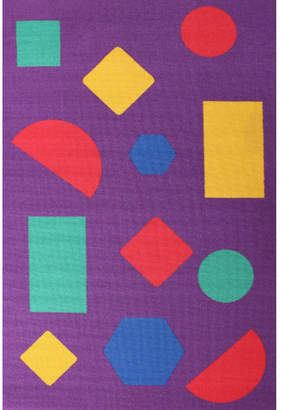Shapes Purple Rubber Backed Kids Rug