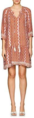 Natalie Martin Women's Stevie Zigzag-Print Silk Dress