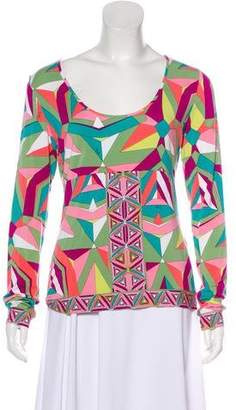 Emilio Pucci Long-Sleeve Printed Top