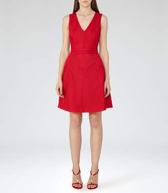 Reiss Topaz Textured Fit And Flare Dress