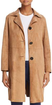 Theory Piazza Suede Coat