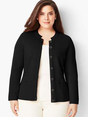 Talbots Banded Collar Sweater Jacket