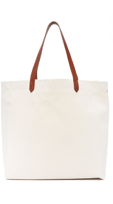 Madewell Canvas Transport Tote $68 thestylecure.com