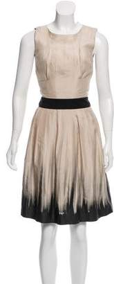 Reiss Brushstroke Print A-Line Dress
