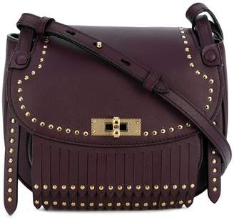 Bally studded saddle bag