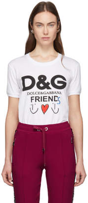 Dolce & Gabbana White Friends T-Shirt