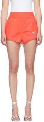 Alexander Wang Orange and Grey Washed Shorts