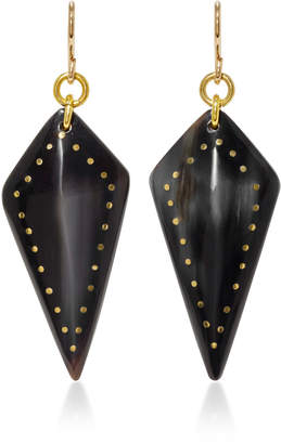 Ashley Pittman Radi Horn and Bronze Earrings