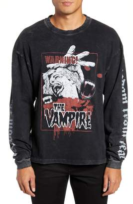 The Kooples Vampire Graphic Long Sleeve T-Shirt