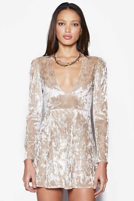 Sam&lavi Sam & Lavi Deep V Velvet Mini Dress