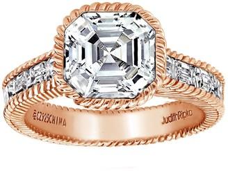Judith Ripka 14K Clad 3.30 cttw Asscher-Cut Ring