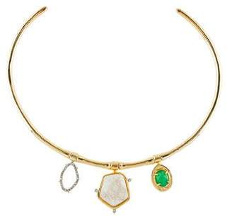 Alexis Bittar Druzy Stone Collar Necklace
