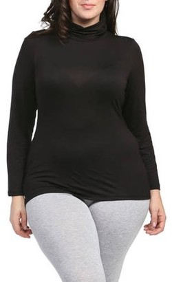 24/7 Comfort Apparel Women's Plus Size Turtleneck Sweater