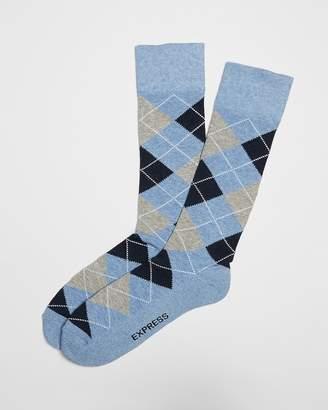 Express Cushioned Argyle Dress Socks