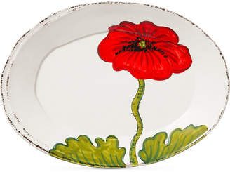 Vietri Lastra Poppy Collection Small Oval Platter