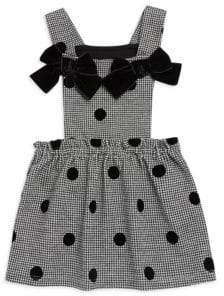 Lili Gaufrette Baby Girl's& Little Girl's Polka Dot Bow Dress