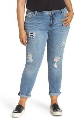 KUT from the Kloth Ripped Roll Cuff Boyfriend Jeans