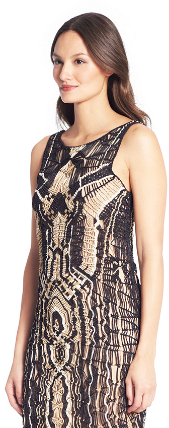 Diane von Furstenberg Neapoli Metallic Crochet Dress