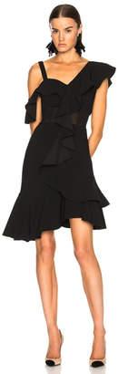 Proenza Schouler One Shoulder Ruffle Mini Dress